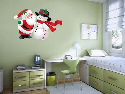 Дед-Мороз и снеговик 76х50см