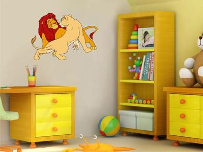 Лев и львица 67х50см