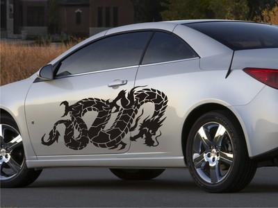 Извивающийся дракон 110х50см