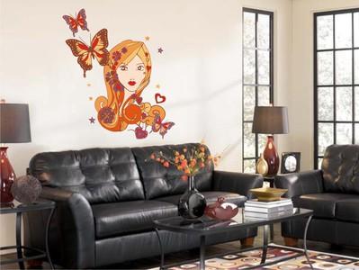 королева бабочек 58х67см