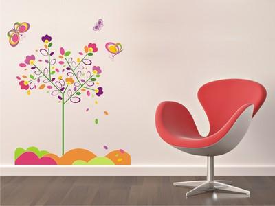 дерево и бабочки 100х120см