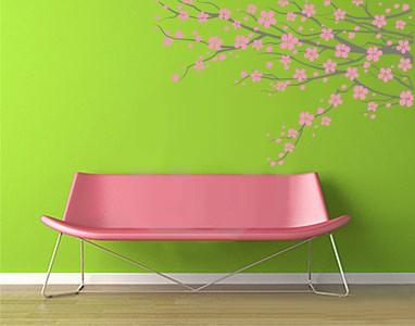 розовая сакура 92х58см