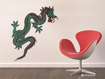 зеленый дракон 50х99см