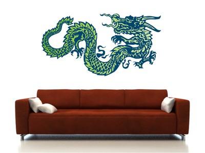 китайский дракон 58х110см