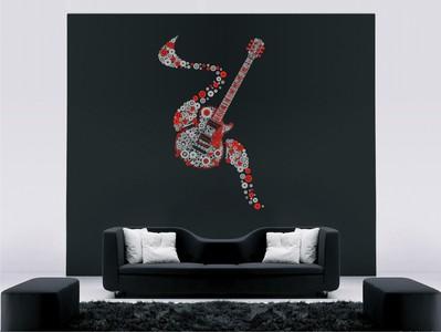гитара из пузырьков 58х95см