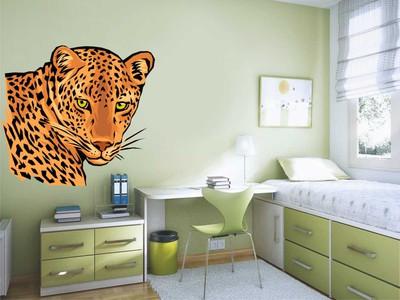 леопард 58х51см