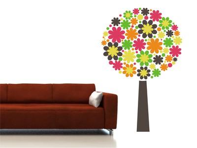 цветочное дерево 55х84см