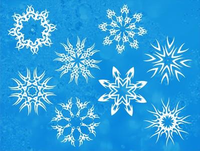 снежинки белые 8шт. по 15см
