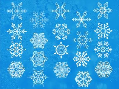 снежинки белые 20шт. по 10см