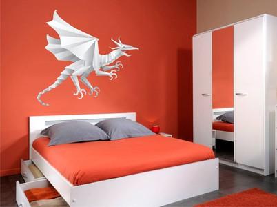 дракон-оригами 58х54см