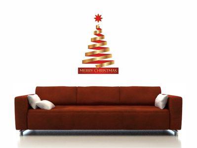 елка с красными лентами 50х72см