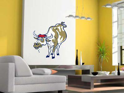 печальная корова 58х64см