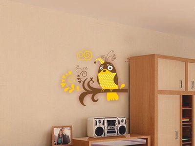 птичка-невеличка желтая 69х58см