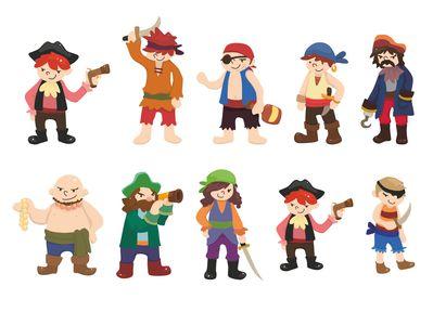пираты 10 по 25см