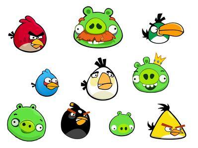 angry birds 10шт по 8см