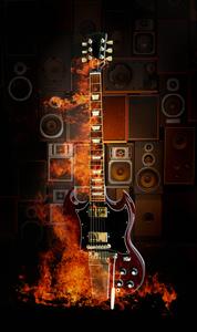 fire music 120х200см